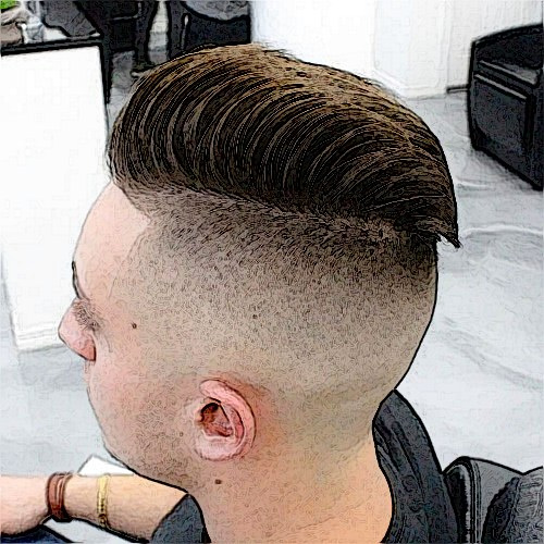 Bald and Skin Fade Haircut
