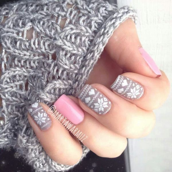 Pink and grey combination