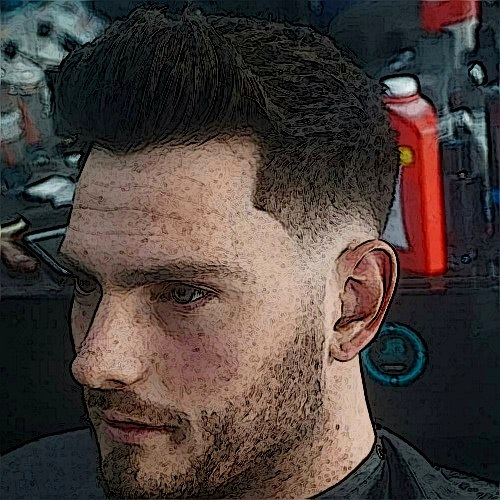 Taper Fade with Line Up